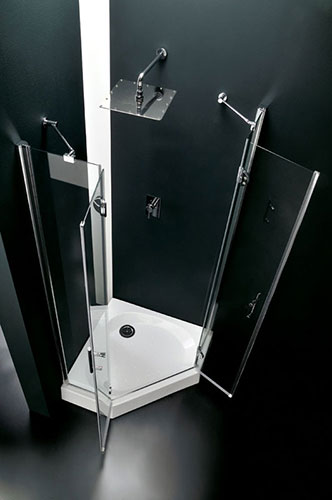 Vetreria serramenti vincenzo monteleone srl - Box doccia pentagonale ...