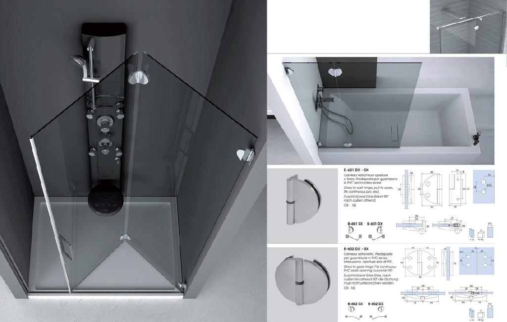 Cerniere per ante doccia fioriera con grigliato plastica - Vetri per doccia ...
