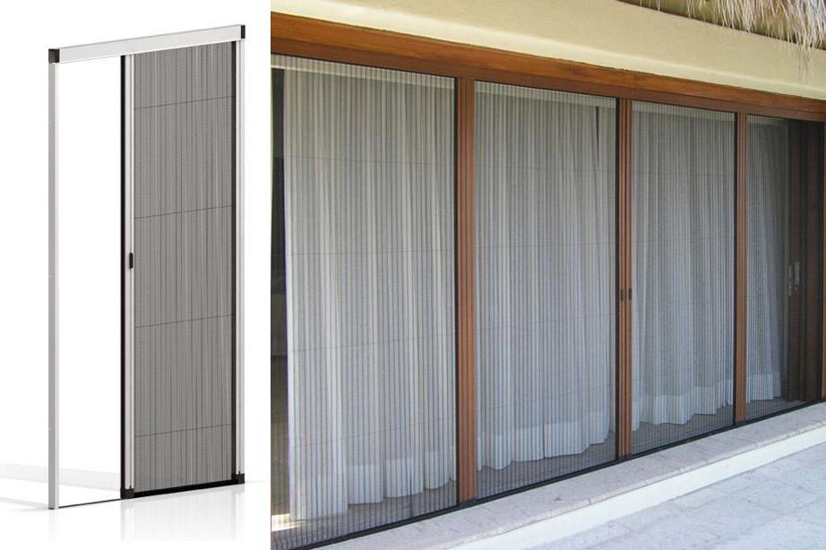 Zanzariere per porte finestre grandi - Verniciare finestre pvc ...